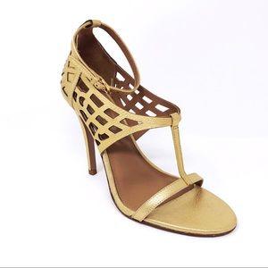 Elie Tahari Woman's 38.5 / 8.5 Gold Heels